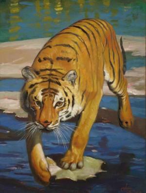 Тигр, к.о., 60х45