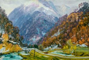 По долинах, 1958, п.о. 105х150