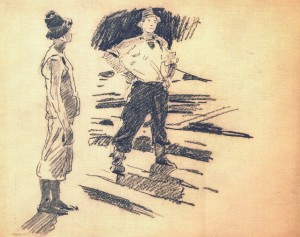 Drawing To The Painting Fellers, 1952, 39х24