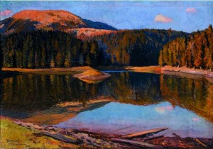 Synevyr lake, 1951, oil on canvas, 68х100