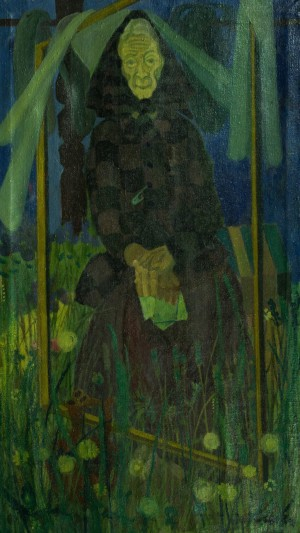 An Old Woman, 1986, oil on canvas, 120x69