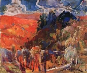Осінь у Карпатах, 1981, п.о. 60х70