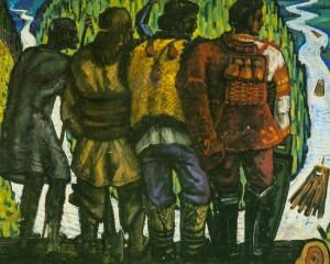 Покоління бокорашів, 1969, карт.темп. 80х100