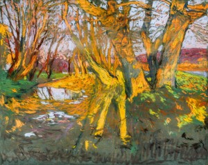 Autumn Forest, 1923, pastel on paper, 45х57