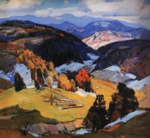 Останній сніг, 1971, п.о. 90х98