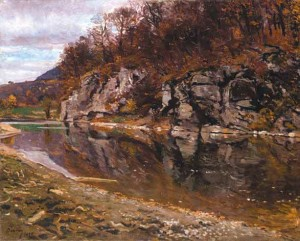 Autumn Motif. Skalka Mountain, 1937, oil on canvas, 85x100