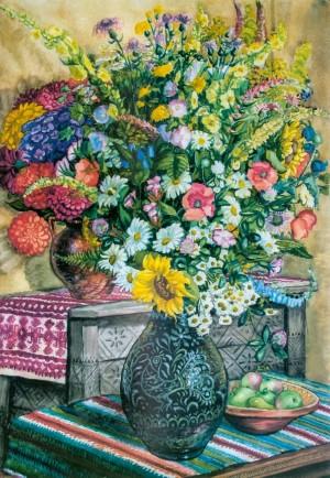 Польові квіти, 1949, пап.акв.