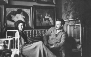 F. Manailo with his wife, 1939-1940