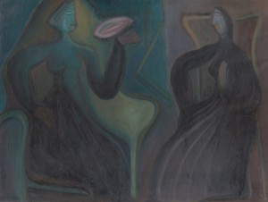 'Sitting Women', 1920-1930, oil on canvas, 82x109.png