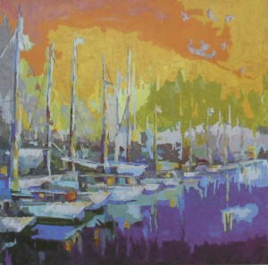 'Bay On Lake Sillinger', 2011, oi on canvas, 80x80