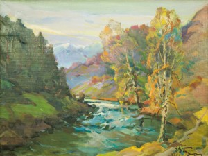 Mountain River, 1988, oil on canvas, 64,5x84,5