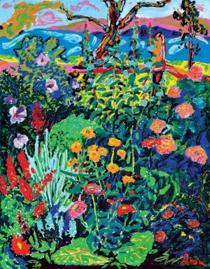 'Flowers', 2007, oil on canvas, 130х100