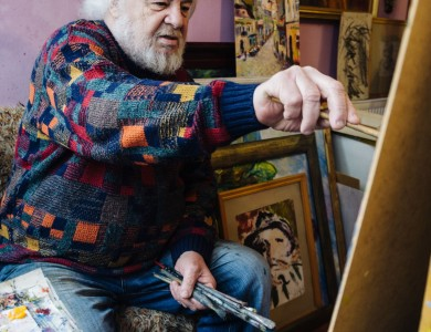 MASTER AND HIS STUDIO. PETRO SHOLTES, AN ARTIST.