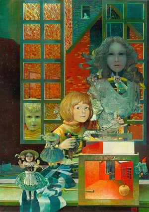 Dominika, 1982-1983, oil on canvas, 110x155