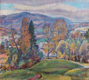 E. Kontratovych  Autumn over the village, 1978