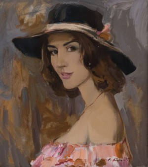 A. Kovach Girl in a hat, 2017