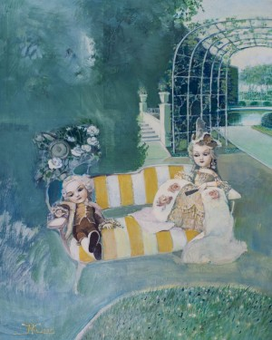 N. Kyrylova 'In The Garden', 2005, oil on canvas, 80x60