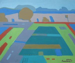 Поле, 2012, орг.о., 55х50
