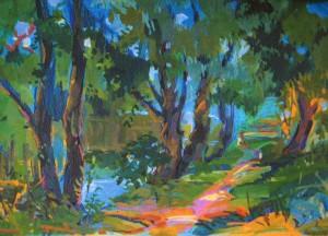 Біля річки Уж, 2003, к.акр., 50х70