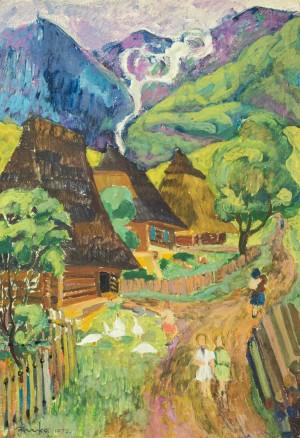 Село Майдан, 1972, к. темп., 69х48