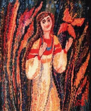 Подих весни, 1996, ручне ткацтво, льон, вовна
