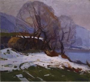 Останній сніг, 1975, п.о. 80х85