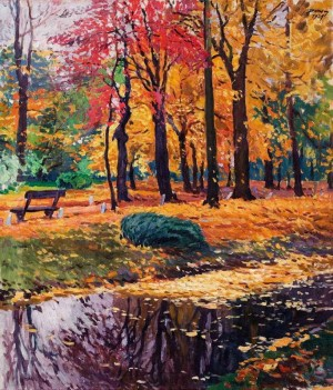 Atumn park, 1927, oil on canvas., 90х77