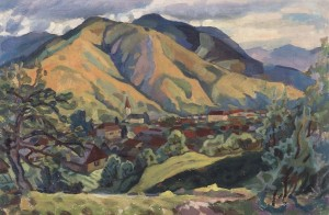 Rakhiv Scenery, 1965, oil on cardboard, 60x92