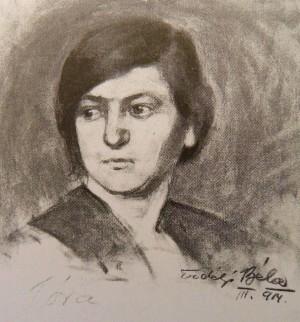 Голова натурниці, 1914 (Приватна колекція)