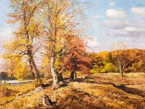 Autumn Landscape, 1959, oil on canvas, 93x120