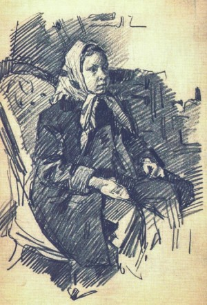 Girl In The Armchair, 1952, oil on paper, 27х19