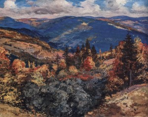 Autumn In The Mountains, beginning of the 1960s, oil on canvas, 70x90