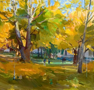 Autumn in the Park, 2006, oil on canvas, 60x70