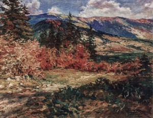 Autumn In The Carpathians, 1957, oil on canvas, 80x100