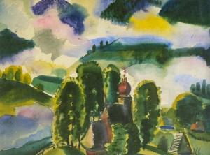Ранковий туман, 1936, пап.акв. 36,5х58
