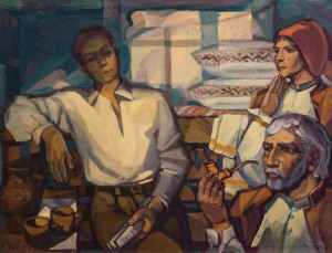 Conversation. Tobacco And Pipe, 1967-2016, oil on canvas, 83х108