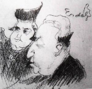 Дружній шарж, 1930-1950-ті рр.