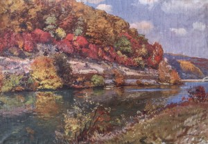 Autumn. The River Bank, 1957, 49х68