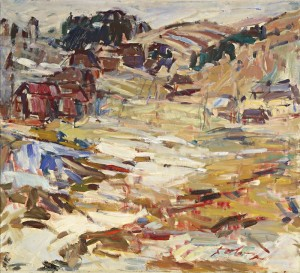 The Last Huts, 1978, oil on canvas, 90x100