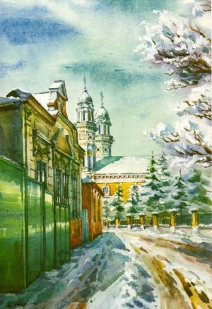 Kapitulna street 1996 watercolour