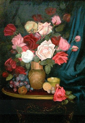 'Roses', 2000, oil on canvas, 55x74,5