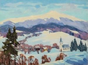 V. Brenzovych 'Pikui Mountain From Scherbovets Village', 2010