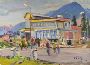 High Tatras-Top, 1978, oil on canvas, 50x70