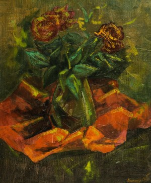 Still Life with Roses oil on canvas 56,5х46,5