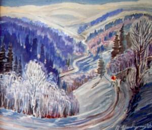 Зима. Дорога на синевир, 2006, п.о., 60х80