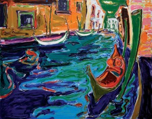 'Venice Canal', 2011, oil on canvas, 90x120