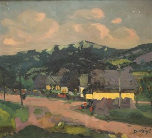 Houses Under the Hill, 1922-1924, oil on canvas