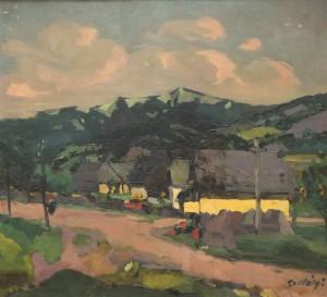 Хати під пагорбом, 1922-1924, п.о