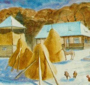 Winter Weekdays, 1991, watercolour on watman, 44х58