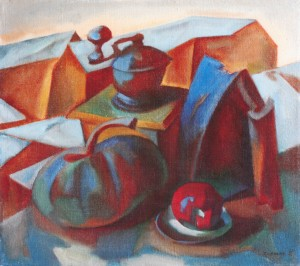 Still Life With Pumpkin, 2003, oil on canvas, 45x50